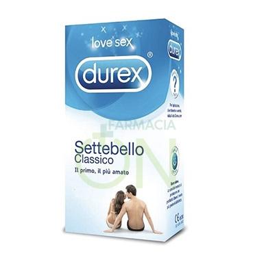 Durex Linea Classica Settebello Cassico Condom Confezione con 12 Profilattici