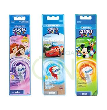 Oral-B Linea Igiene Dentale Quotidiana Kids Power 3 Spazzolini di Ricambio