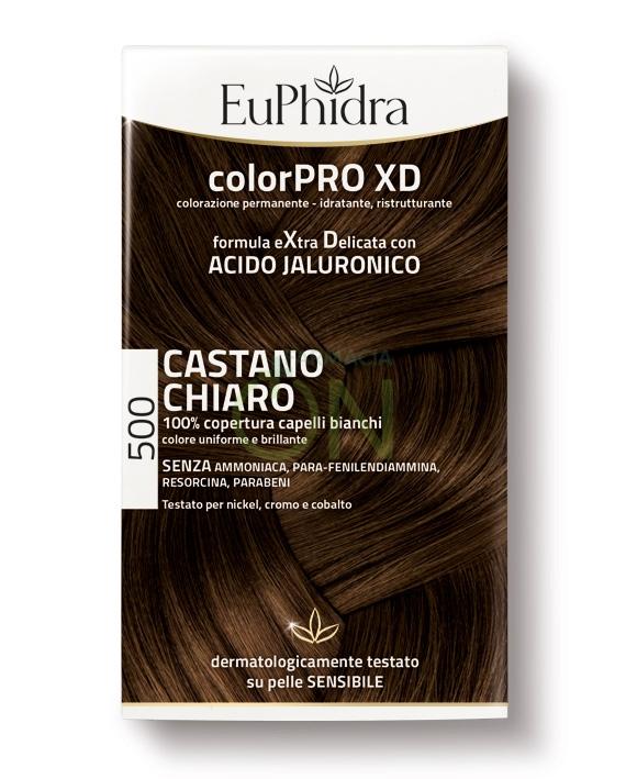 EuPhidra Linea ColorPRO XD Colorazione Extra-Delixata 500 Castano Chiaro