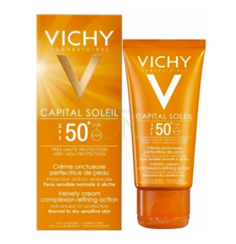 Vichy Linea Ideal Soleil SPF50+ Crema Vellutata Perfezionatrice di Pelle 50 ml