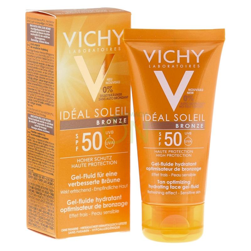 Vichy Linea Ideal Soleil SPF50 Gel Bronze Idratante Abbronzatura Rapida 50 ml