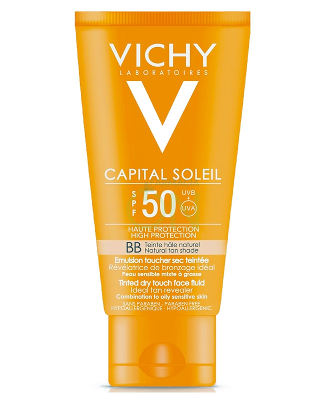 Vichy Linea Ideal Soleil SPF50 Dry Touch BB Cream Emulsione Colorata 50 ml
