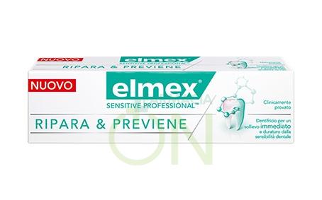 elmex Linea Igiene Dentifricio Sensitive Professional Ripara e Previene 75 ml