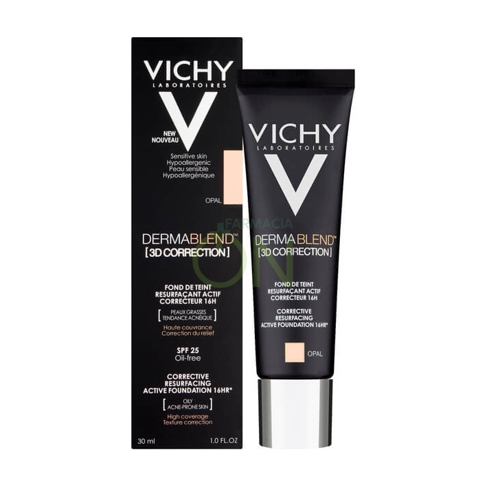 Vichy Make-up Linea Dermablend 3D Correction Fondotinta Elevata Coprenza Beige